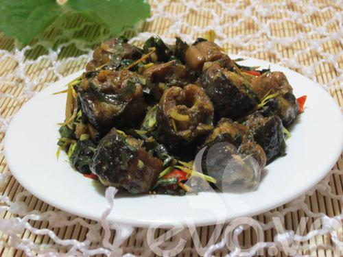 Công thức món lươn xào sả ớt