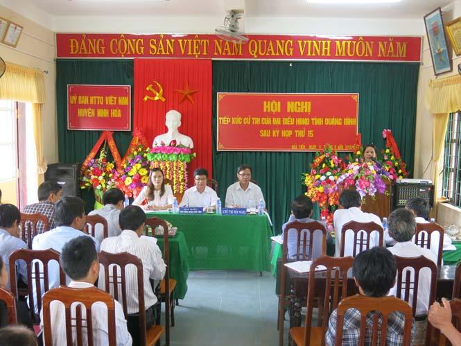 Đại biểu HĐND tỉnh tiếp xúc cử tri sau họp thứ 15, HĐND tỉnh khóa XVI