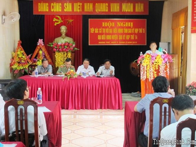 Đại biểu HĐND tỉnh tiếp xúc cử tri sau kỳ họp thứ 15, HĐND tỉnh khoá XVI