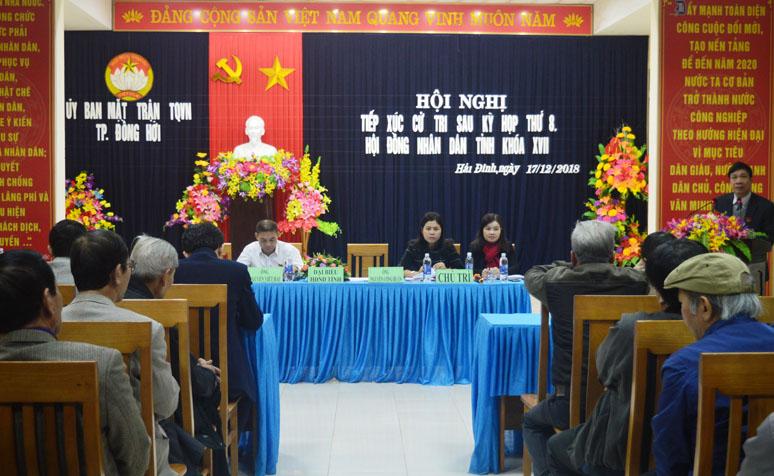 Đại biểu HĐND tỉnh tiếp xúc cử tri thành phố Đồng Hới