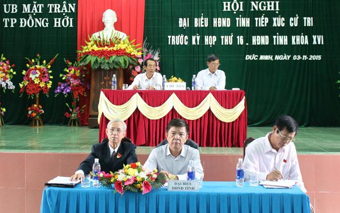 Đại biểu HĐND tỉnh tiếp xúc cử tri trước kỳ họp thứ 16, HĐND tỉnh khóa XVI