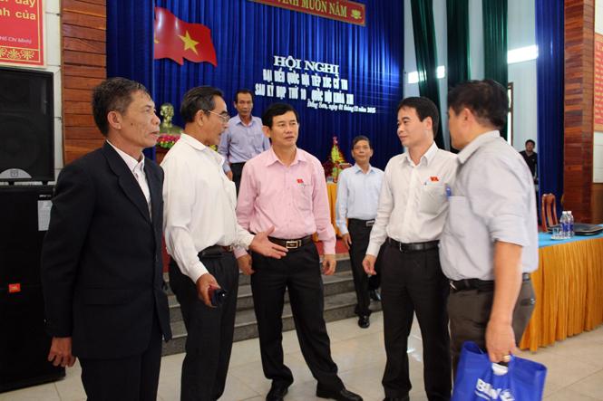 Đại biểu Quốc hội tiếp xúc với cử tri thành phố Đồng Hới
