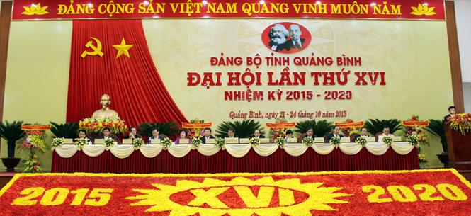 Đại hội đại biểu Đảng bộ tỉnh Quảng Bình lần thứ XVI: Bầu Ban Chấp hành nhiệm kỳ 2015-2020