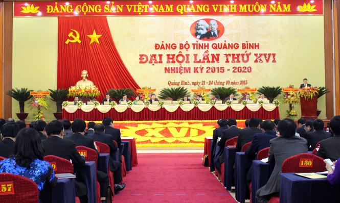 Đại hội đại biểu Đảng bộ tỉnh Quảng Bình lần thứ XVI: Đồng chí Hoàng Đăng Quang được bầu làm Bí thư Tỉnh ủy