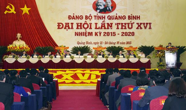 Đại hội đại biểu Đảng bộ tỉnh Quảng Bình lần thứ XVI họp phiên trù bị
