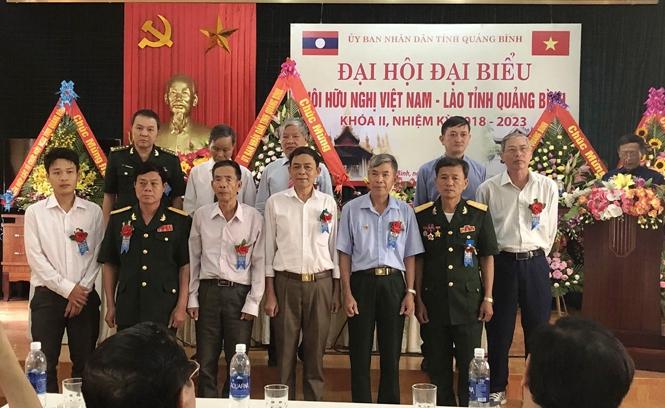 Đại hội đại biểu Hội hữu nghị Việt Nam-Lào tỉnh Quảng Bình khóa II, nhiệm kỳ 2018-2023