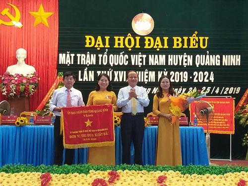 Đại hội đại biểu Mặt trận Tổ quốc Việt Nam huyện Quảng Ninh lần thứ XVI, nhiệm kỳ 2019 - 2024