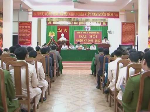 Đảng bộ Công an huyện Minh Hóa Đại hội nhiệm kỳ 2015-2020