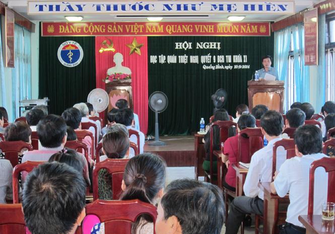 Đảng bộ Sở Y tế quán triệt Nghị quyết Hội nghị lần thứ IX Ban Chấp hành Trung ương Đảng (khoá XI)