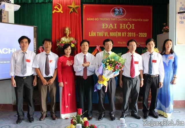 Đảng bộ Trường THPT Chuyên Võ Nguyên Giáp tổ chức Đại hội lần thứ VI, nhiệm kỳ 2015-2020