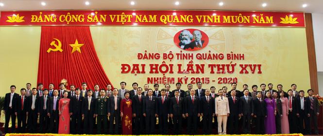 Danh sách BCH Đảng bộ tỉnh Quảng Bình khóa XVI, nhiệm kỳ 2015 - 2020