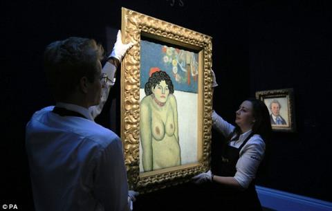 Đấu giá bức tranh 2 mặt hiếm thấy của Picasso
