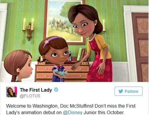 Đệ nhất phu nhân Mỹ lên phim hoạt hình Disney