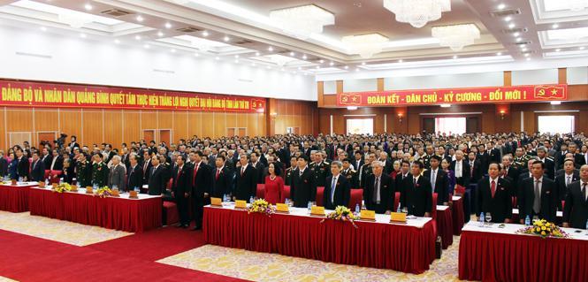 Diễn văn khai mạc Đại hội đại biểu Đảng bộ tỉnh lần thứ XVI, nhiệm kỳ 2015-2020