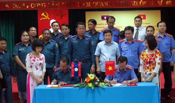 Đoàn công tác của Viện Kiểm sát nhân dân tỉnh Khăm Muộn thăm và làm việc tại Quảng Bình