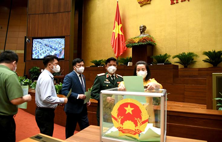 Đoàn Đại biểu Quốc hội tỉnh tham gia bầu các chức danh chủ chốt
