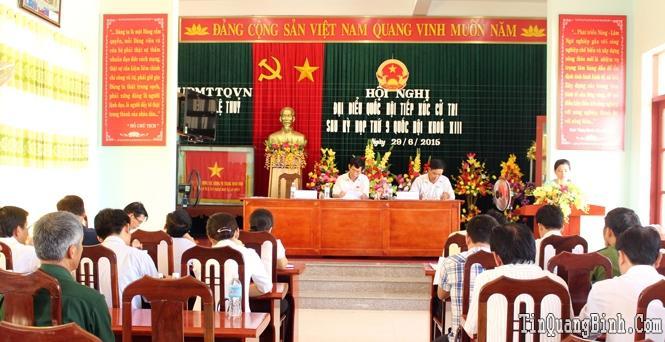 Đoàn đại biểu Quốc hội tỉnh tiếp xúc cử tri