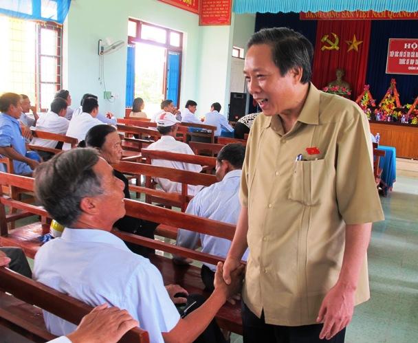Đoàn đại biểu Quốc hội tỉnh tiếp xúc cử tri tại huyện Quảng Trạch trước kỳ họp thứ 10, Quốc hội khóa XIII