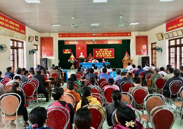 Đoàn ĐBQH tỉnh tiếp xúc cử tri hai huyện Quảng Ninh và Lệ Thủy