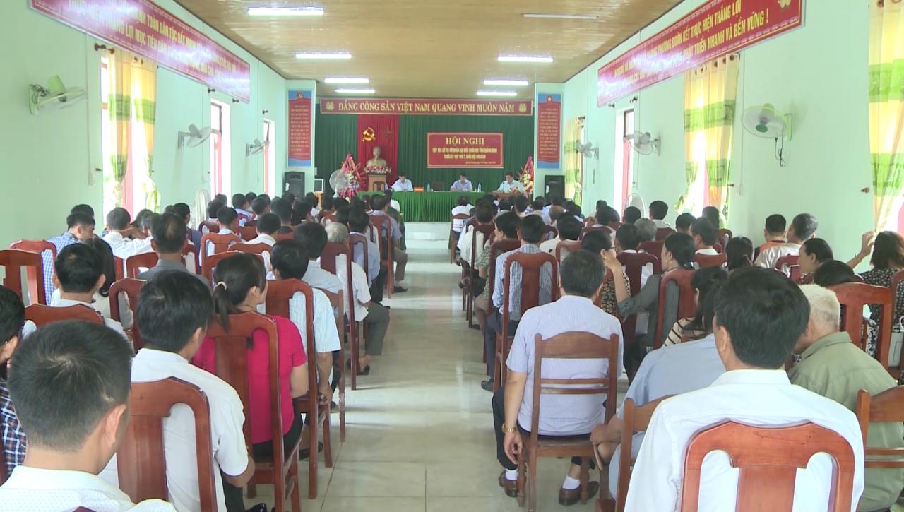 Đoàn ĐBQH tỉnh tiếp xúc cử tri tại huyện Quảng Trạch và thị xã Ba Đồn