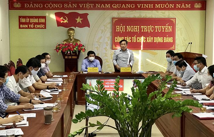 Đồng chí Bí thư Tỉnh ủy dự hội nghị trực tuyến toàn quốc về công tác tổ chức xây dựng Đảng