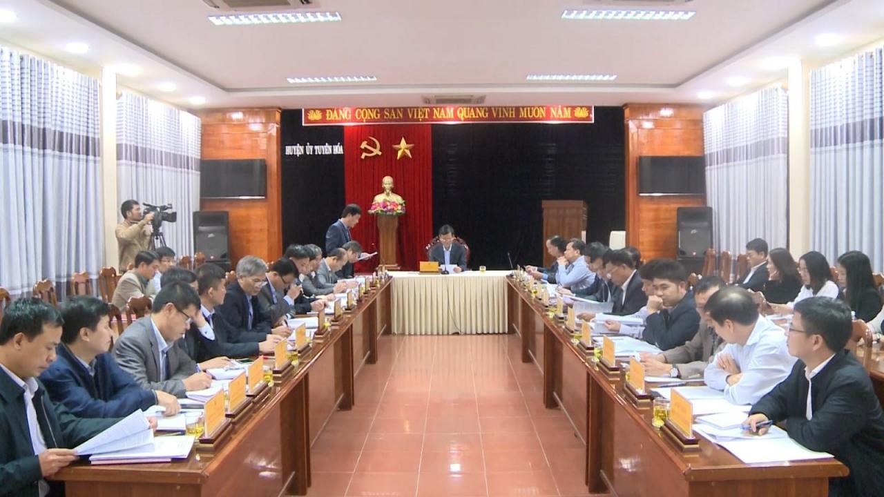 Đồng chí Phó Bí thư Thường trực Tỉnh ủy làm việc tại huyện Tuyên Hoá