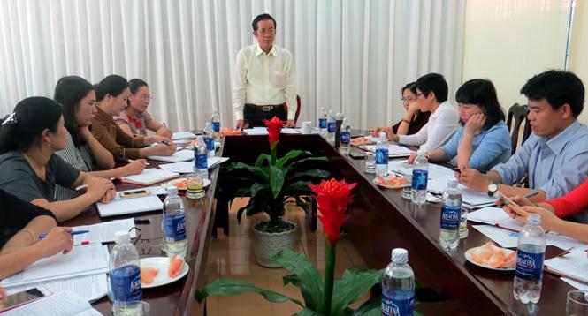 Đồng chí Phó Bí thư Thường trực Tỉnh ủy làm việc với Hội Liên hiệp Phụ nữ tỉnh