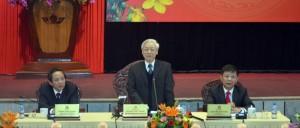Đồng chí Tổng Bí thư làm việc với Ban Thường vụ Tỉnh ủy và cán bộ chủ chốt của tỉnh