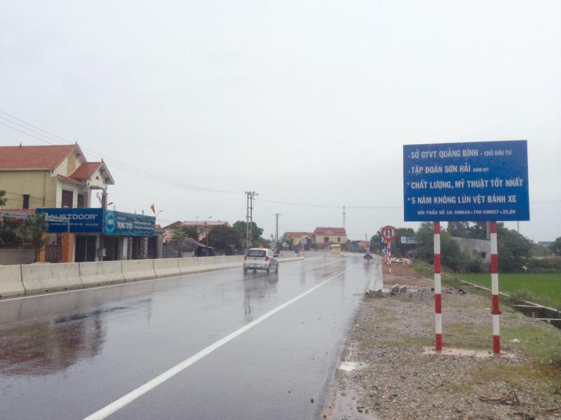 Dự án Đầu tư công trình mở rộng Quốc lộ 1 qua Quảng Bình: Sai sót lớn trong giải phóng mặt bằng