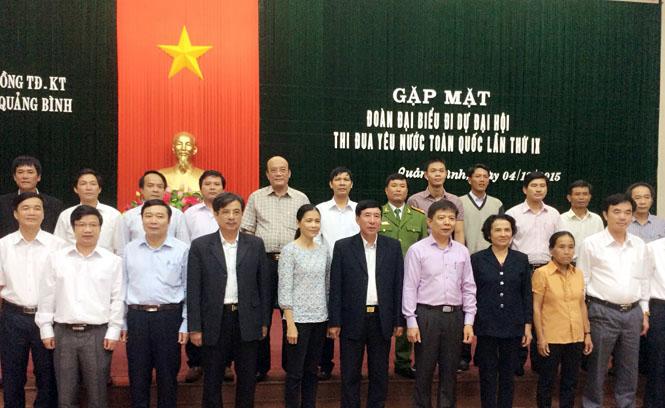 Gặp mặt Đoàn đại biểu tỉnh Quảng Bình dự Đại hội thi đua yêu nước toàn quốc lần thứ IX