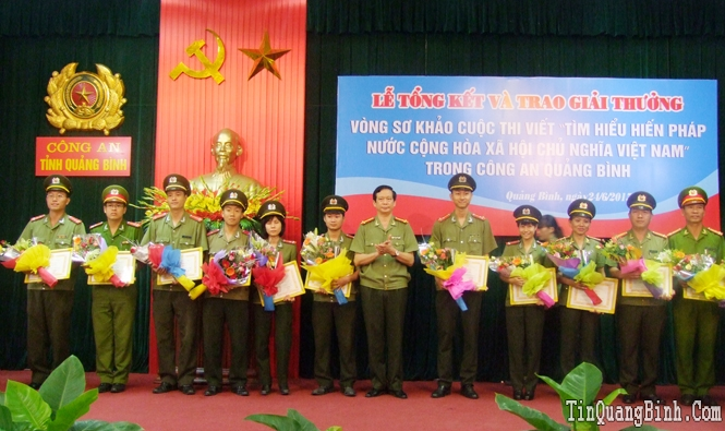 """Ghi nhận từ cuộc thi viết """"Tìm hiểu Hiến pháp nước Cộng hòa xã hội chủ nghĩa Việt Nam"""" trong Công an Quảng Bình"""