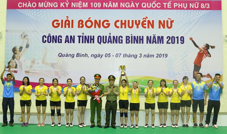 Giải bóng chuyền nữ Công an tỉnh năm 2019 thành công tốt đẹp