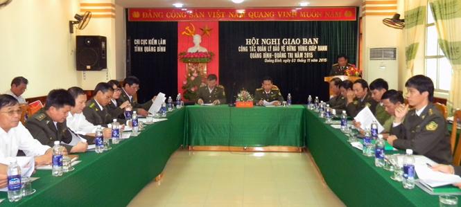 Giao ban công tác quản lý, bảo vệ rừng vùng giáp ranh Quảng Bình và Quảng Trị