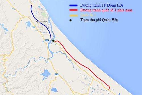 Hai trạm BOT ở Quảng Bình miễn phí cho dân địa phương