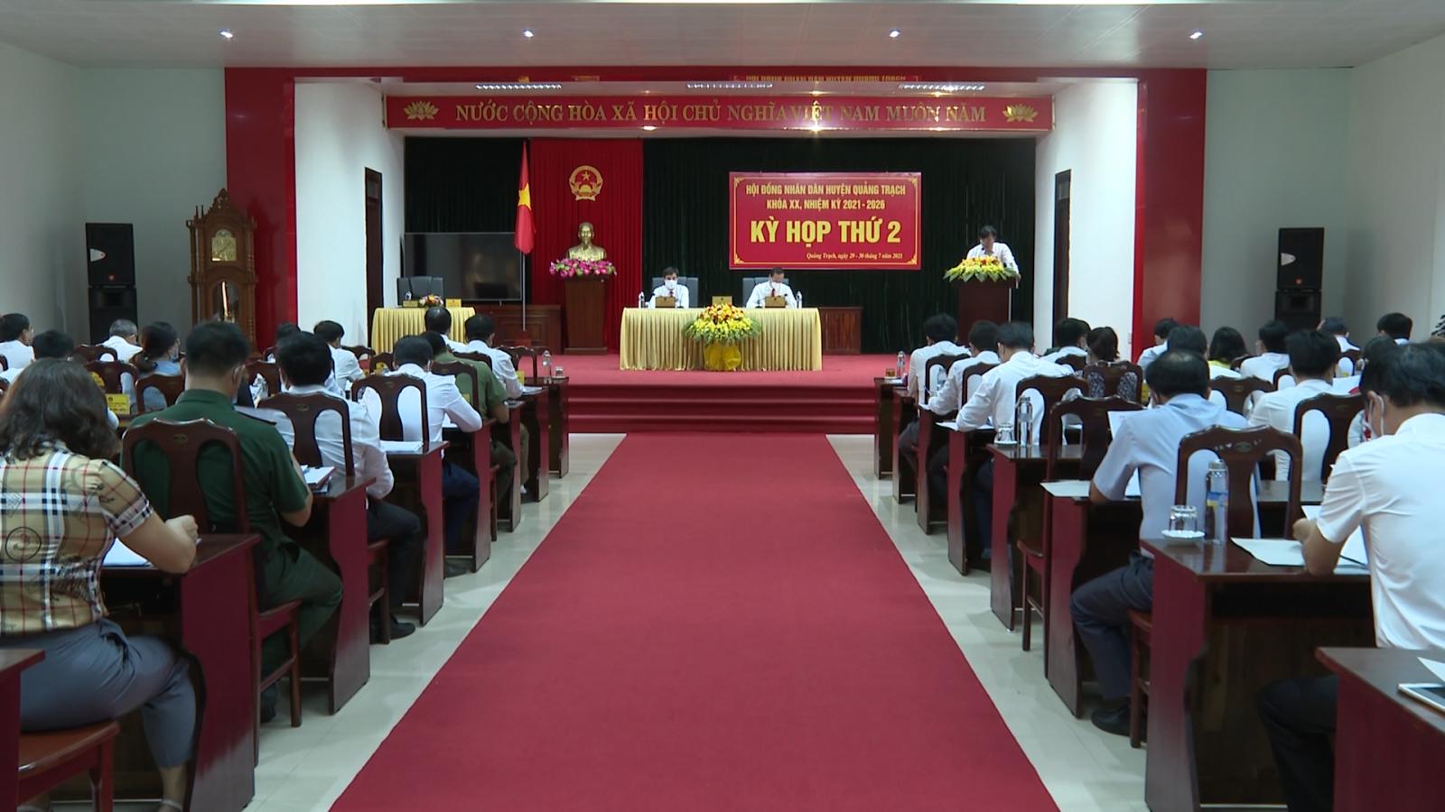 HĐND huyện Quảng Trạch tổ chức thành công kỳ họp thứ 2