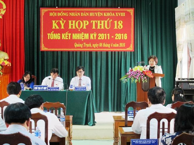 HĐND huyện Quảng Trạch: Tổng kết nhiệm kỳ 2011-2016