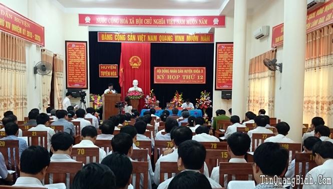HĐND huyện Tuyên Hoá khoá X tổ chức kỳ họp thứ 12