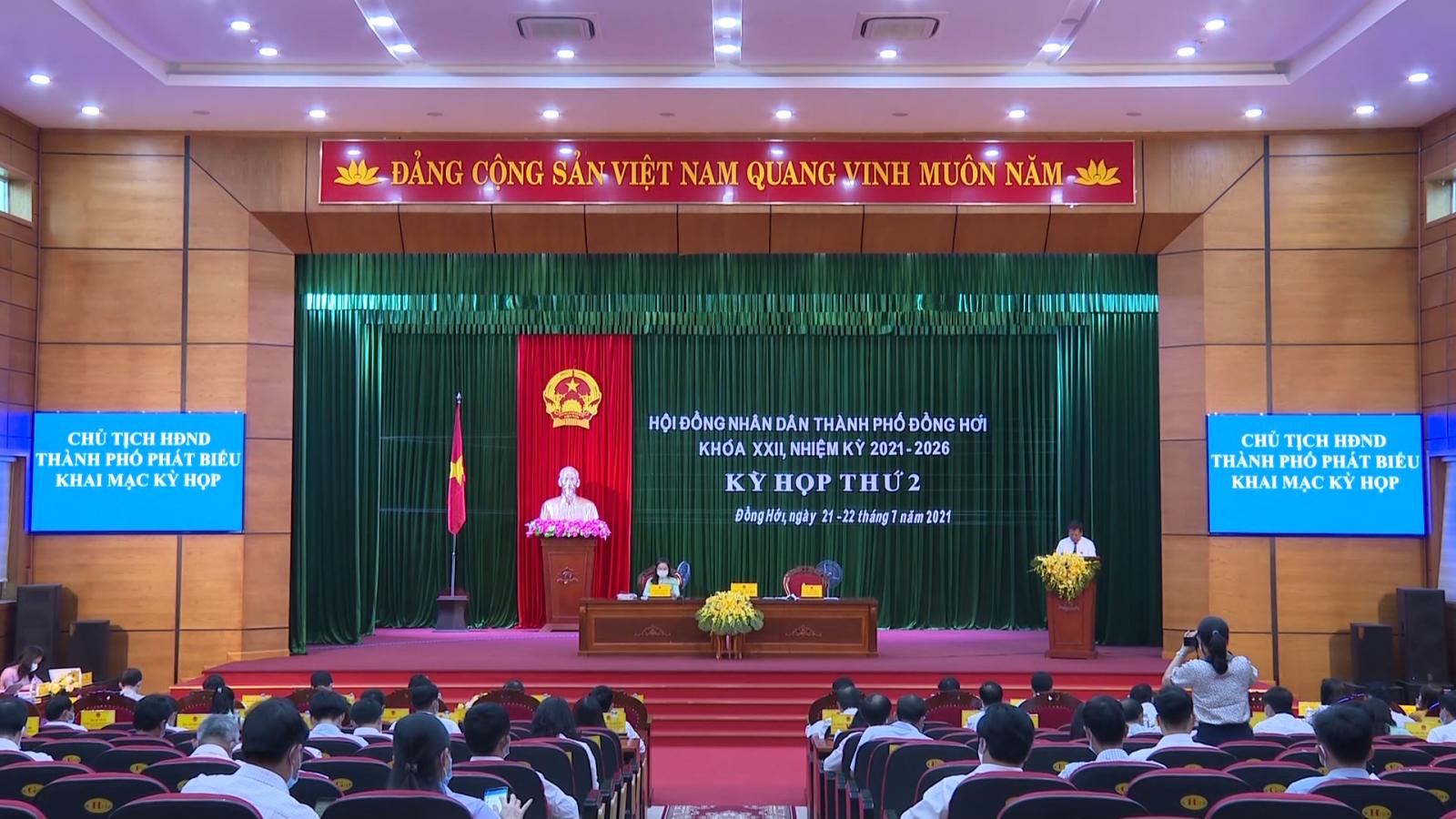 HĐND thành phố Đồng Hới khóa XXII tổ chức kỳ họp thứ 2