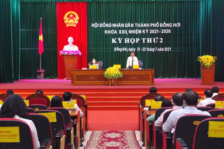 HĐND TP. Đồng Hới khóa XXII họp kỳ thứ 2