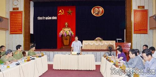 Hội nghị cho ý kiến vào các nội dung Đại hội Đảng bộ Công an tỉnh lần thứ XX, nhiệm kỳ 2015-2020