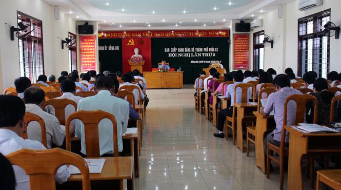 Hội nghị BCH Đảng bộ thành phố Đồng Hới lần thứ II
