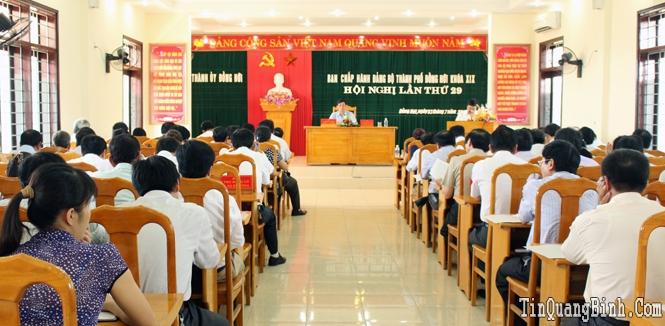 Hội nghị lần thứ 29 Ban Chấp hành Đảng bộ thành phố Đồng Hới khóa XIX