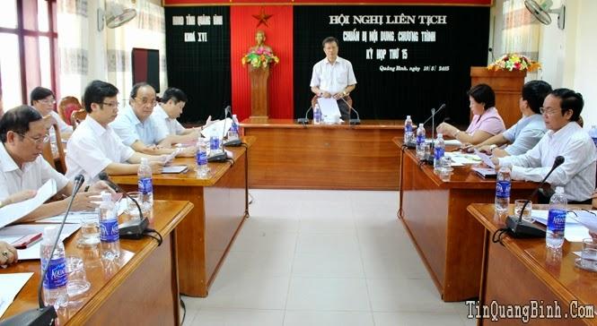 Hội nghị liên tịch chuẩn bị nội dung kỳ họp thứ 15, HĐND tỉnh khóa XVI