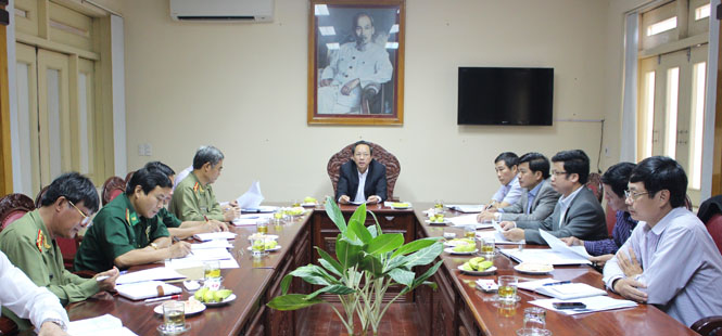 Hội nghị soát xét công tác chuẩn bị Đại hội Đảng bộ tỉnh lần thứ XVI, nhiệm kỳ 2015-2020