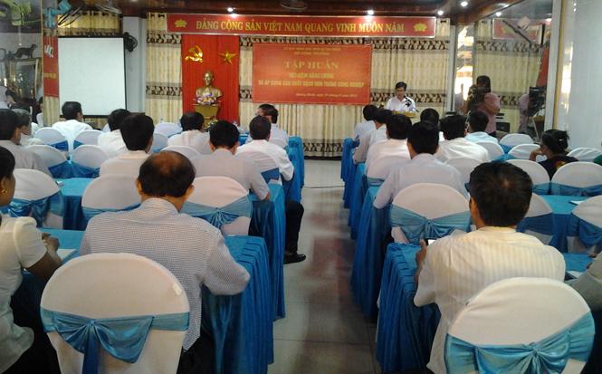 Hội nghị tập huấn sản xuất sạch hơn và tiết kiệm năng lượng