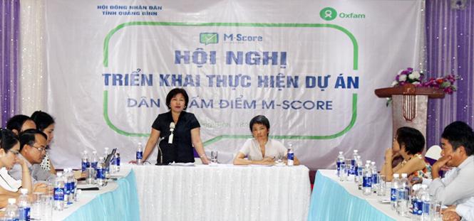 Hội nghị triển khai thực hiện dự án Dân chấm điểm M-Score