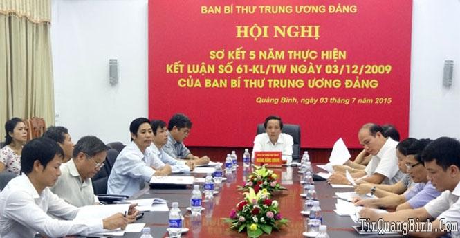 Hội nghị trực tuyến sơ kết 5 năm thực hiện Kết luận 61 của Ban Bí thư Trung ương Đảng