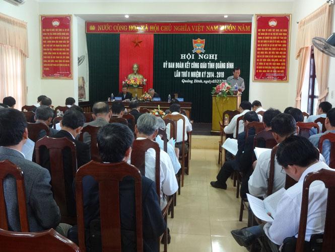 Hội nghị Ủy ban đoàn kết Công giáo tỉnh Quảng Bình lần thứ II, nhiệm kỳ 2014-2019