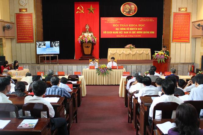 Hội thảo khoa học Đại tướng Võ Nguyên Giáp với cách mạng Việt Nam và quê hương Quảng Bình