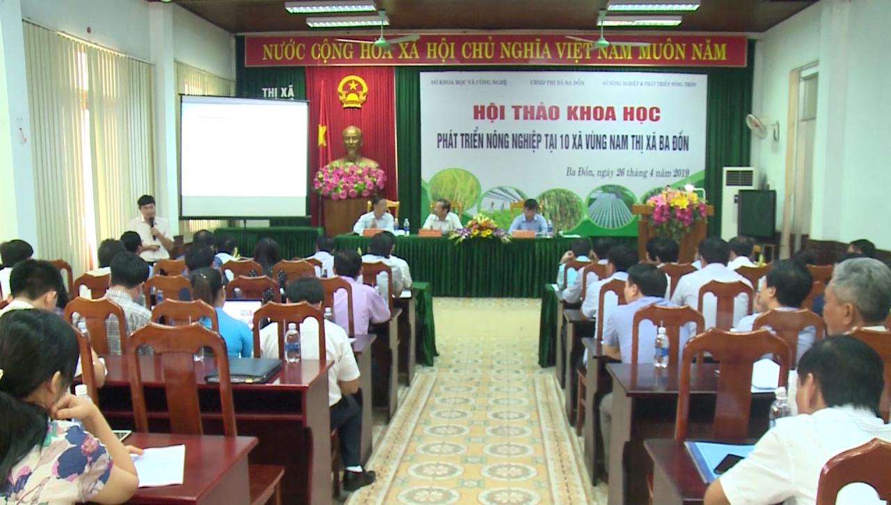 """Hội thảo khoa học """"Phát triển nông nghiệp tại 10 xã vùng Nam thị xã Ba Đồn"""""""